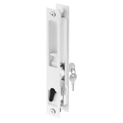 Picture of C 1129 - Patio Door Flush Handle with Latch assortment, White, Night Lock, Keyed, 1 per pkg.
