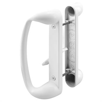 Picture of C 1176 - Patio door Mortise Style handle,  White Diecast inside & outside handles, 1 per pkg.