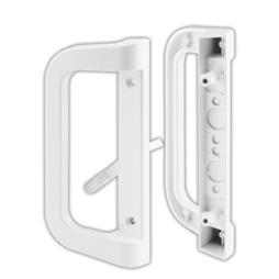 Picture of C 1177 - Patio door Mortise Style handle,  White Diecast inside & outside handles, 1 per pkg.