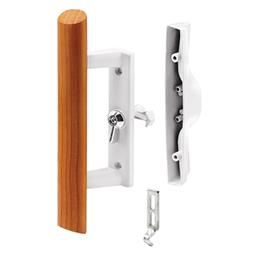 Picture of C 1195 - Patio Door Internal style door  handle, White, 3-15/16 inch hole centers, 1 per pkg.