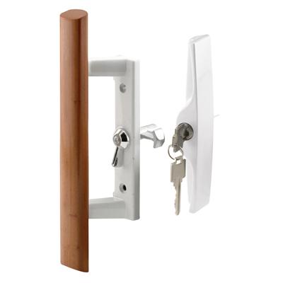 Picture of C 1200 - Patio Door Internal style door  handle, White, Keyed, 3-15/16 inch hole centers, 1 per pkg.