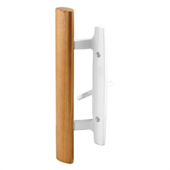 Picture of C 1208 - Patio door Mortise Style handle,  White Diecast with wood handle, 1 per pkg.