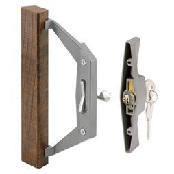 Picture of C 1211 - Patio Door Internal style door  handle, Gray, Keyed, 3-1/2 inch hole centers, 1 per pkg.