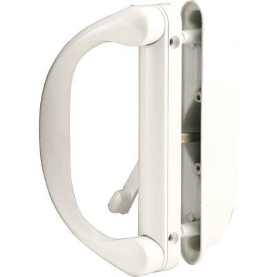 Picture of C 1275 - Patio Door Mortise Style Handle, White, Roto, Square Drive Lever, 1 per pkg.