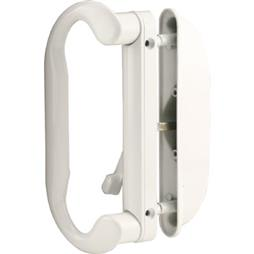 Picture of C 1277 - Patio Door Mortise Style Handle, White, Roto, Square Drive Lever, 1 per pkg.