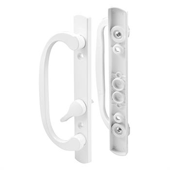 Picture of C 1280 - Patio door Mortise Style handle,  White Diecast, Offset thumbturn, 1 per pkg.