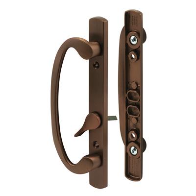 Picture of C 1281 - Patio door Mortise Style handle,  Bronze Diecast, Offset thumbturn, 1 per pkg.