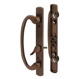 Picture of C 1281 - Patio door Mortise Style handle,  Bronze Diecast, Offset thumbturn, 1 per pkg.