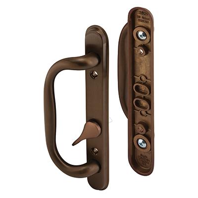 Picture of C 1285 - Patio door Mortise Style handle,  Bronze Diecast inside & outside handles, 1 per pkg.