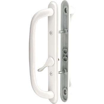 Picture of C 1288 - Patio door Mortise Style handle,  White Diecast, Offset thumbturn, 1 per pkg.