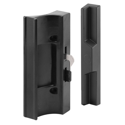 Picture of C 1300 - Patio Door Hook Latch, Candian, Black Plastic, Keeper, Non-Handed, 1 per pkg.