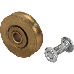 Picture of D 1501 - Steel Ball Bearing Roller  Replacement, 1-1/8 inch Diameter, bolt and nuts, 2 Pack