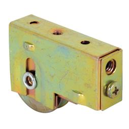 Picture of D 1538 - Single 1-1/2 inch Steel  Roller Assembly, Ball Bearing, Plain Back Housing, 1 Pack