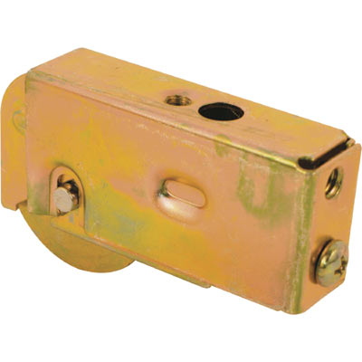 Picture of D 1594 - Single 1-1/2 inch Steel  Roller Assembly, Ball Bearing, Plain Back Housing, 1 Pack