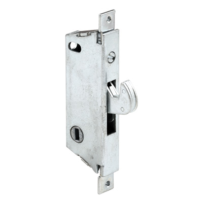 Picture of E 2008 - Mortise Lock, 3-11/16 inch Mounting Holes, Steel, Vertical Keyway, Square Faceplate, Pack of 1