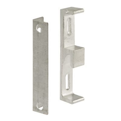 """Picture of E 2046 - Sliding Door Diecast Keeper and """"L"""" Angle, Pack of 1"""