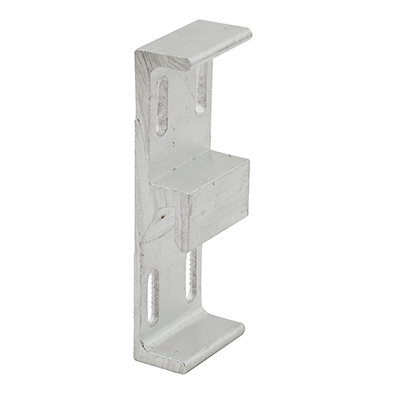 Picture of E 2048 - Face Mount Keeper, 1-3/4 inch Mounting Holes, Aluminum,  Pack of 1