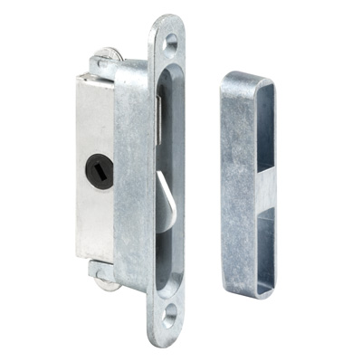 "Picture of E 2079 - Mortise Lock, 3-7/8"", Aluminum, 45? Keyway, Round Faceplate"