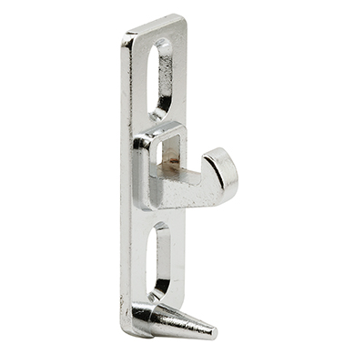 Picture of E 2083 - Sliding Door Keeper, Diecast, Chrome Plated, 1-5/8 inch Mounting Holes, Pack of 1