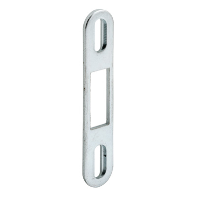 Picture of E 2097 - Sliding Door Keeper, Stamped Steel, Zinc Plated, 2-7/8 inch Mounting Holes, Pack of 1