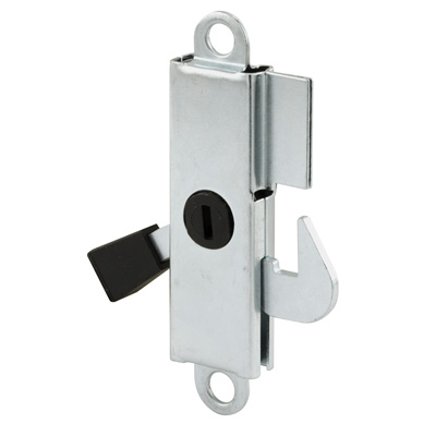Picture of E 2105 - Internal Lock, Aluminum Housing with Steel Hook, 3 inch mounting Holes, Pack of 1
