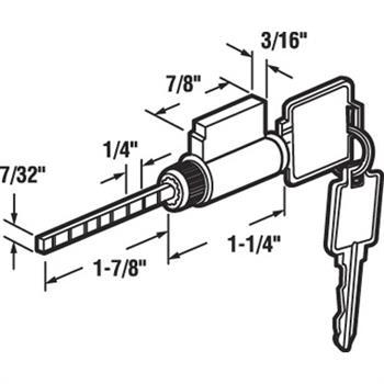 E 2107 Cylinder Lock 1 1 4 Inches Keyed Alike Weiser
