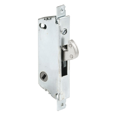 "Picture of E 2118 - Mortise Lock, 3-11/16"", Steel, 45? Keyway, Square Faceplate"