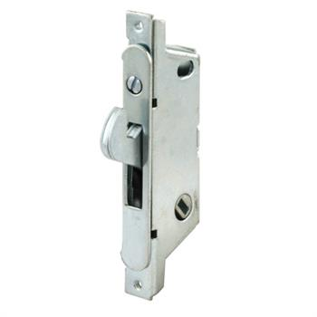 Picture of E 2121 - Mortise Lock, 3-11/16 inch Mounting Holes, Stainless Steel, 45 degree Keyway, Round Faceplate, Pack of 1