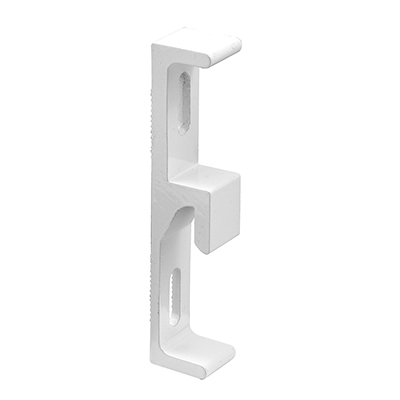 Picture of E 2123 - Sliding Door Diecast Keeper, White Finish, Pack of 1