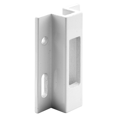 Picture of E 2124 - Sliding Glass Door Keeper,Aluminum, White, 2-1/2 inch Length, Pack of 1