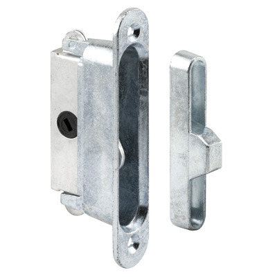 Picture of E 2126 - Mortise Lock, 3-7/8 inch Mounting Holes, Aluminum, 45 Degree Keyway, Round Faceplate, Pack of 1