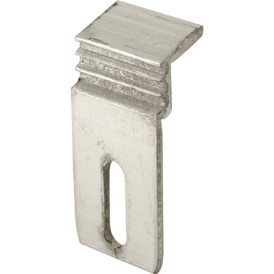 Picture of E 2132 - Sliding Patio Door Panel Clip, Aluminum, 2-3/8 inches over all height, Pack of 4
