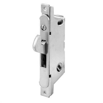 Picture of E 2148 - Mortise Lock, 3-11/16 inch Mounting Holes, Stainless Steel, 45 degree Keyway, Round Faceplate, Pack of 1