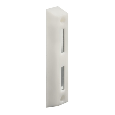 Picture of E 2160 - Sliding Door Keeper, Face Mount, 3-1/2 Mounting Holes, White, Pack of 1