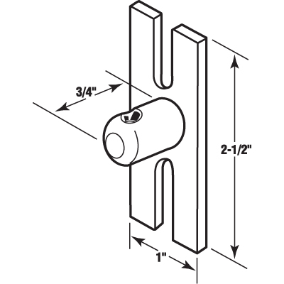 Picture of E 2165 - Sliding Glass Door Keeper, Pack of 1