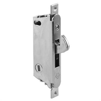 Picture of E 2185 - Mortise Lock, 3-11/16 inch Mounting Hole, Stainless Steel, Vertical Keyway. Pack of 1