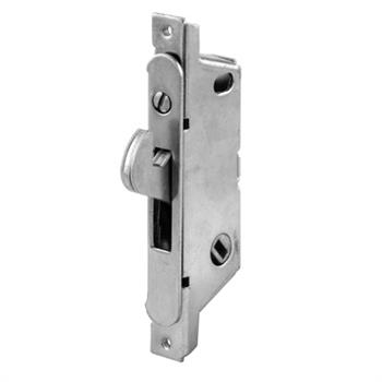 Picture of E 2187 - Mortise Lock, 3-11/16 inch Mounting Holes, Stainless Steel, 45 degree Keyway, Round Faceplate, Pack of 1