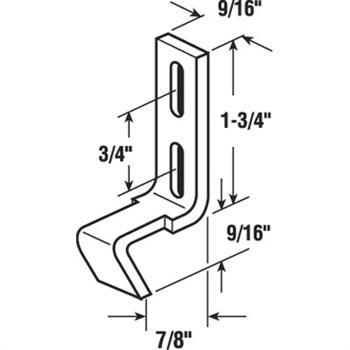 E 2197 sliding door keeper 78 steel zinc plated picture of e 2197 sliding door keeper 78 steel ccuart Choice Image