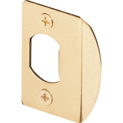 Picture of E 2232 - 2-Pack Brass Plated Standard Deadlatch Door Strike Plate