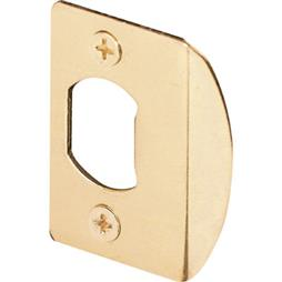 "Picture of E 2232 - Standard Latch Strike, 2-1/4"", Steel, Brass Plated"