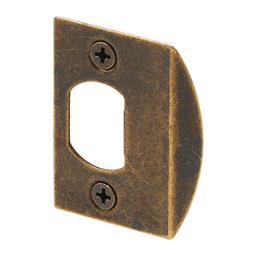 "Picture of E 2233 - Standard Latch Strike, 2-1/4"", Steel, Antique Brass"