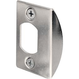 "Picture of E 2234 - Standard Latch Strike, 2-1/4"", Steel, Chrome Plated Finish"