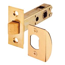 """Picture of E 2281 - Passage Door Latch, 9/32"""" & 5/16"""" Square Drive, Brass Finish"""