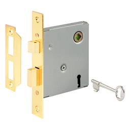 "Picture of E 2294 - Mortise Lock Assembly, 5-1/2"", Steel, Brass Plated"