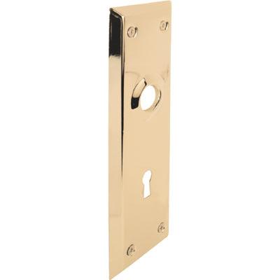 "Picture of E 2295 - Door Escutcheon Plates, 2-7/32"" x 7"", Steel, Brass Finish"