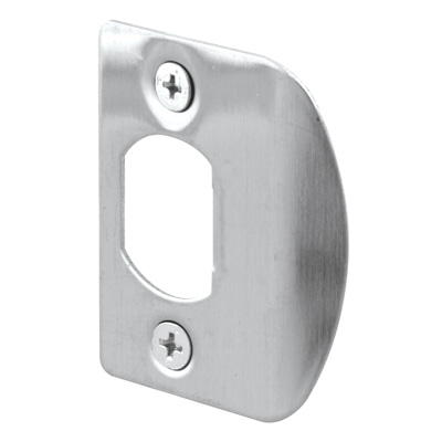 """Picture of E 2301 - Standard Latch Strike, 2-1/4"""", Stainless Steel, Satin Finish"""
