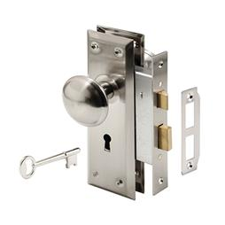 Picture of E 2330 - Mortise Lock Set, Keyed, Satin Nickel