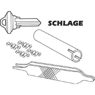 "Picture of E 2402 - Re-Keying Kit, Schlage, Type ""C"" 5-Pin Locksets, 6 Locks"