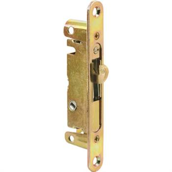 Picture of E 2468 - Mortise Lock with Security Adaptor Plate, 5-3/8 inches, 45 degree Keyway, Round Faceplate. Pack of 1