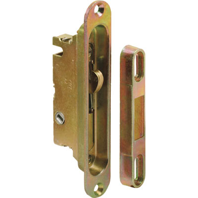 Picture of E 2469 - Mortise Lock, 5-1/4 inch Mounting Holes, Steel/Diecast, 45Degree Keyway, Round Face, Pack of 1